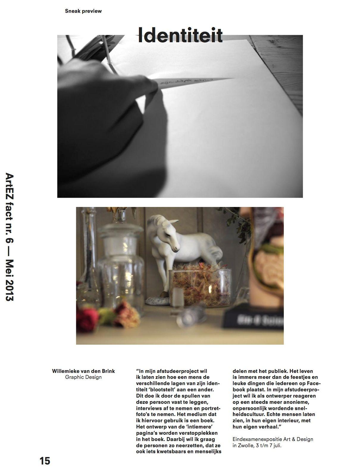 artez eindexamen graphic design willemieke van den brink echter ontwerp