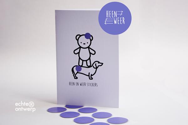 Heen en weer stickers voor kinderen scheiding