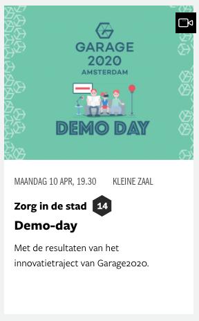 Demo-Day Garage2020 Pakhuis de zwijger